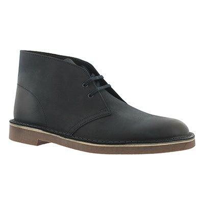 Clarks Men's BUSHACRE 2 navy leather chukka boots