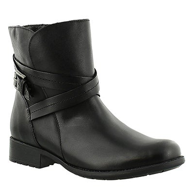 Clarks Women's PLAZA SQUARE black ankle boots