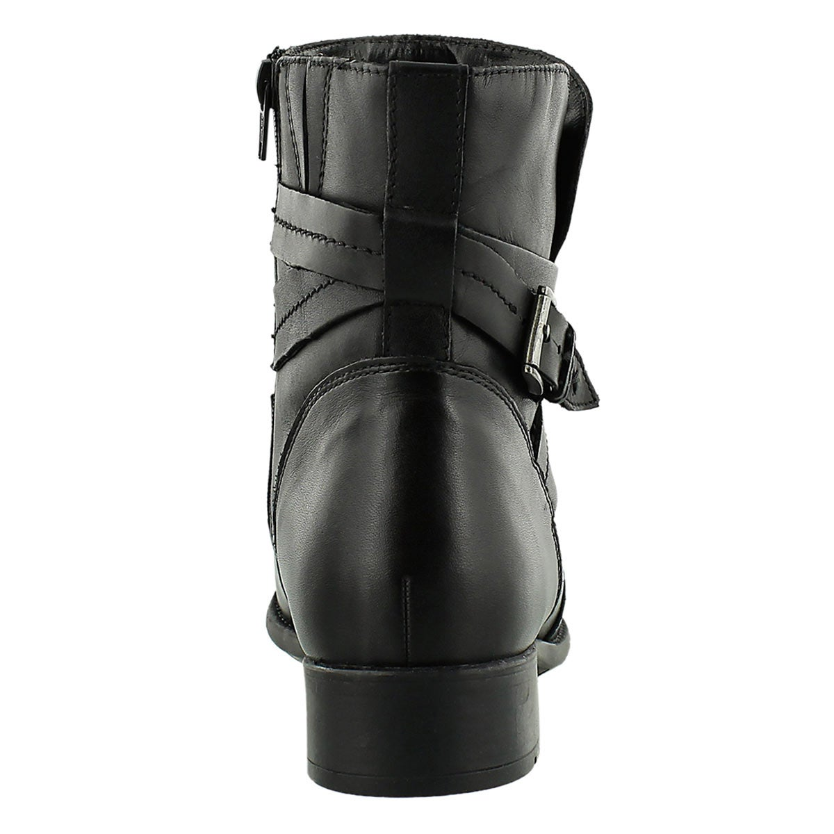 Lds Plaza Square black ankle boot