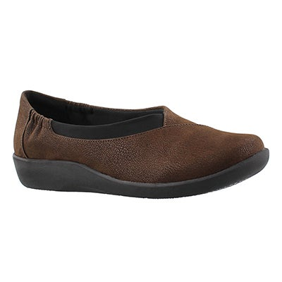 Clarks Women's SILLIAN JETAY dark brown casual slip ons