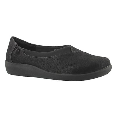Clarks Women's SILLIAN JETAY black casual slip ons