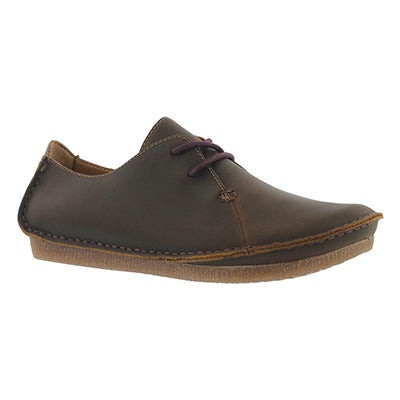 Clarks Women's JANEY MAE beeswax casual oxfords