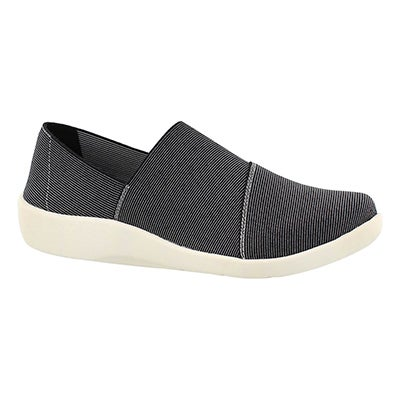Clarks Women's SILLIAN FIRN black multi casual slip ons
