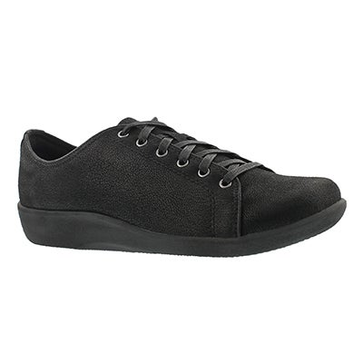 Clarks Women's SILLIAN GLORY black lace up casual shoes
