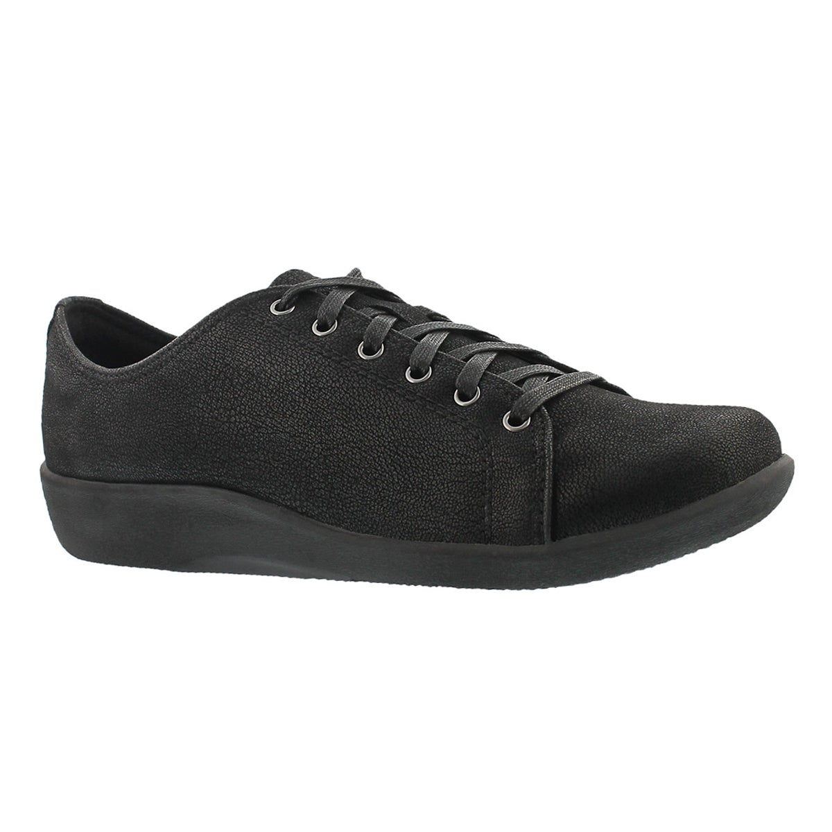 Lds Sillian Glory blk laceup casual shoe