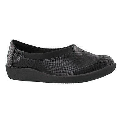 Clarks Women's SILLIAN JETAY black slip on