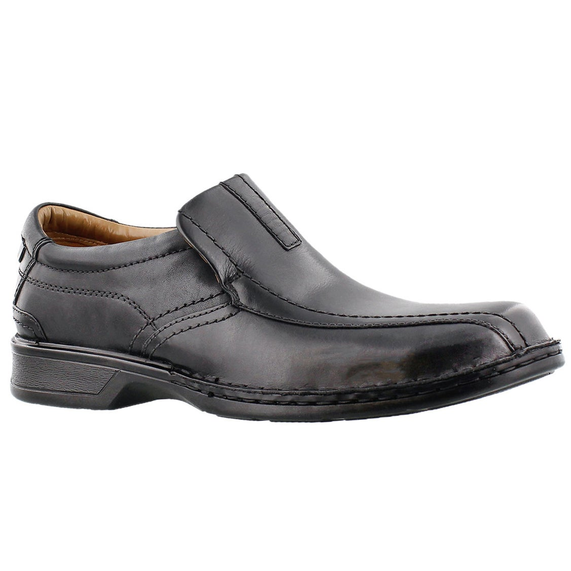 Mns Escalade Step blk slip on dress shoe