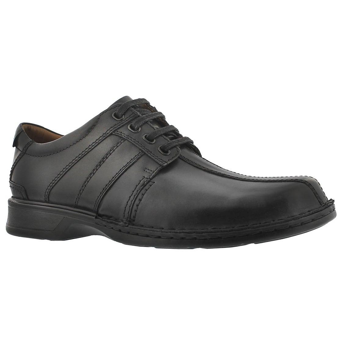 Men's TOUAREG VIBE black lace up dress shoes