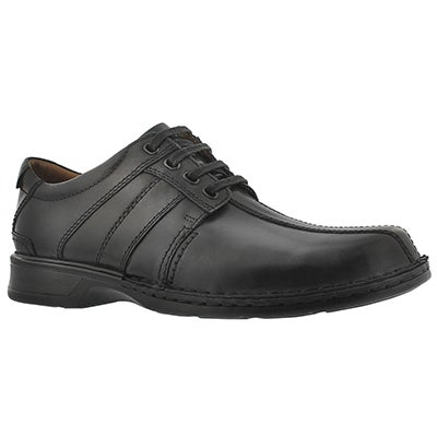 Clarks Men's TOUAREG VIBE black lace up dress shoes