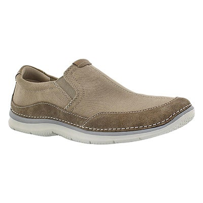 Clarks Men's RIPTON FREE olive slip on casual shoes