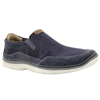 Clarks Men's RIPTON FREE blue slip on casual shoes
