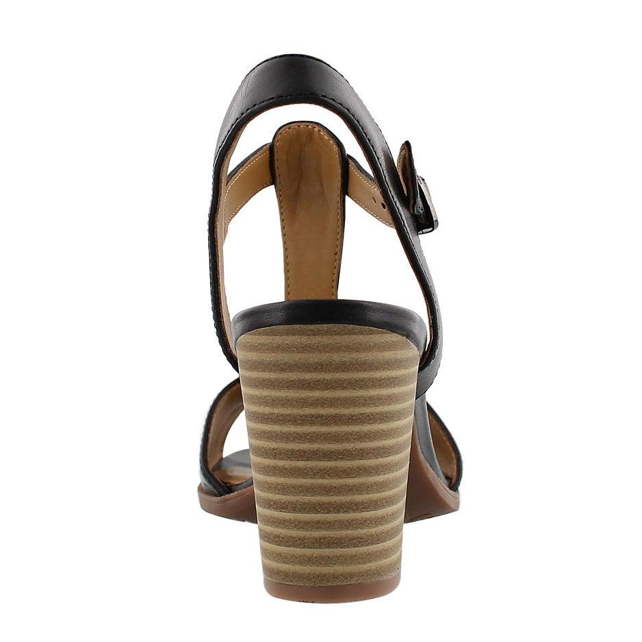Lds Ciera Glass blk t-strap dress sandal