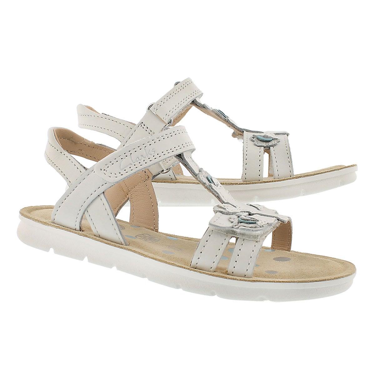 Grls Mimo Gracie white t-strap sandal