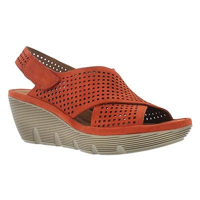 Clarks Women's CLARENE AWARD grenadine wedge sandals