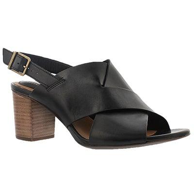 Clarks Women's RALENE VIVE black dress sandals