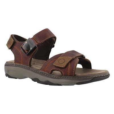Mns Raffe Sun brown 3strap casual sandal