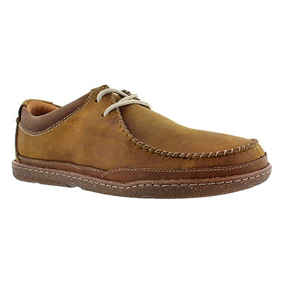 Clarks Men's TRAPELL PACE tan casual lace up shoes