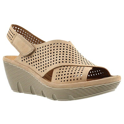 Clarks Women's CLARENE AWARD sand wedge sandals