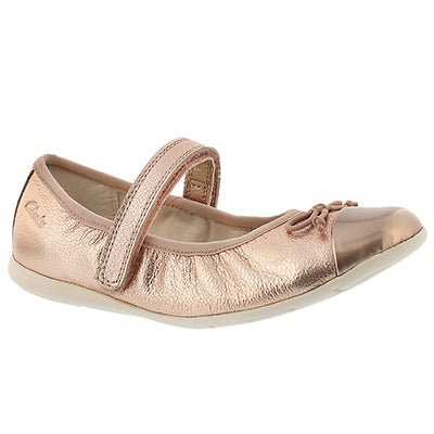 Clarks Infants' DANCE ROSA rose gold Mary Janes