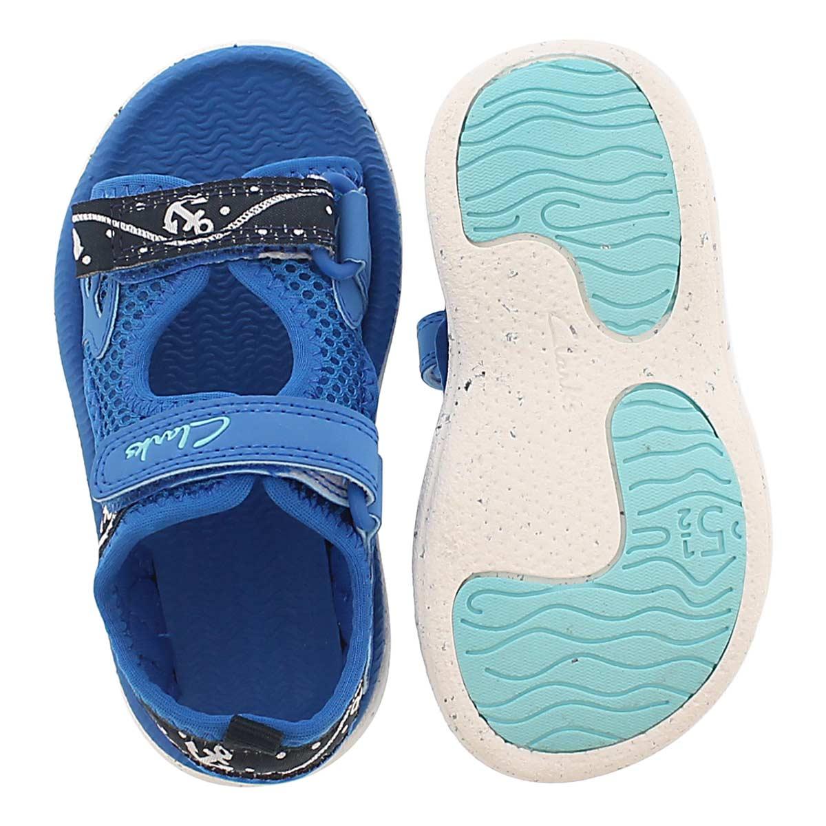 Inf Piranha Boy navy sport sandal