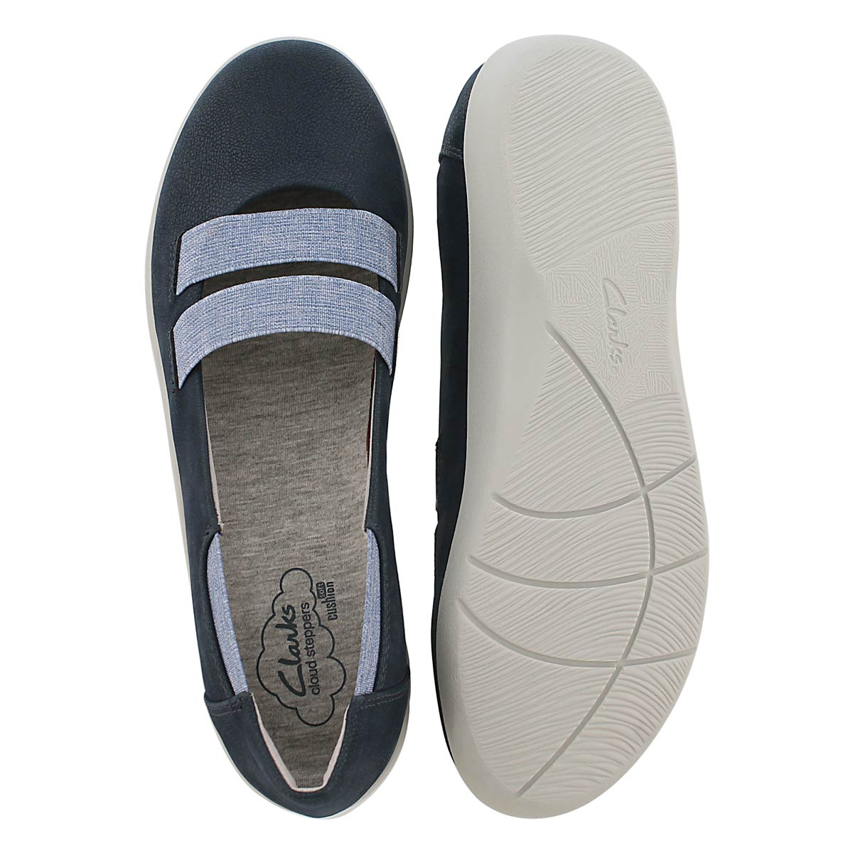 Lds Sillian Rest nvy slip on casual shoe
