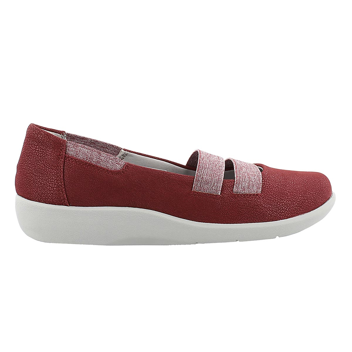 Lds Sillian Rest red slip on casual shoe