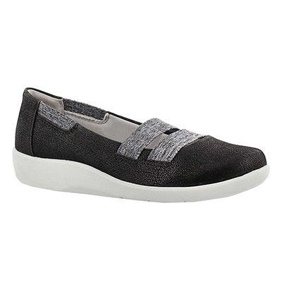 Clarks Women's SILLIAN REST black slip on casual shoes