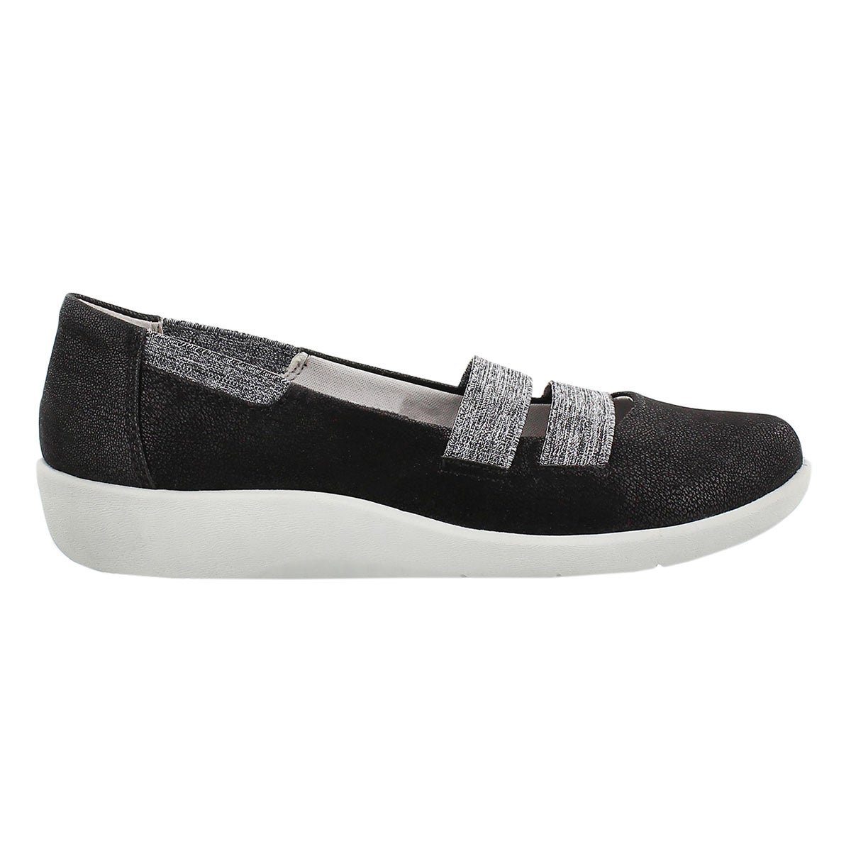 Lds Sillian Rest blk slip on casual shoe