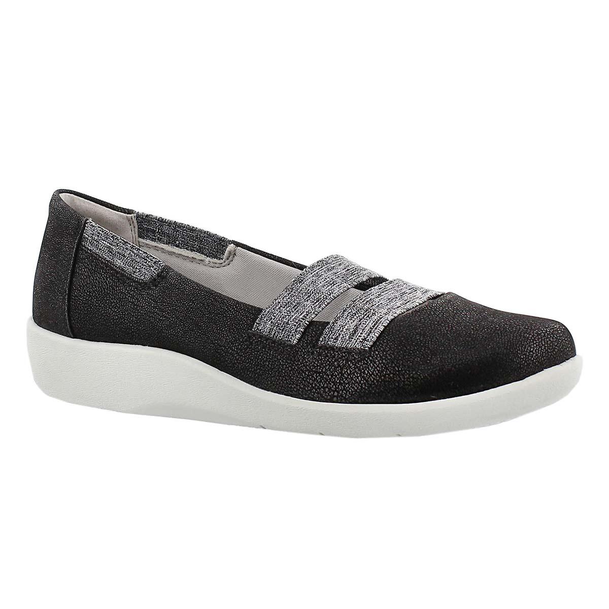 Lds Sillian Rest blk slip on casual shoe