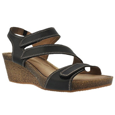 Clarks Women's HAVELY ORDO black wedge sandals