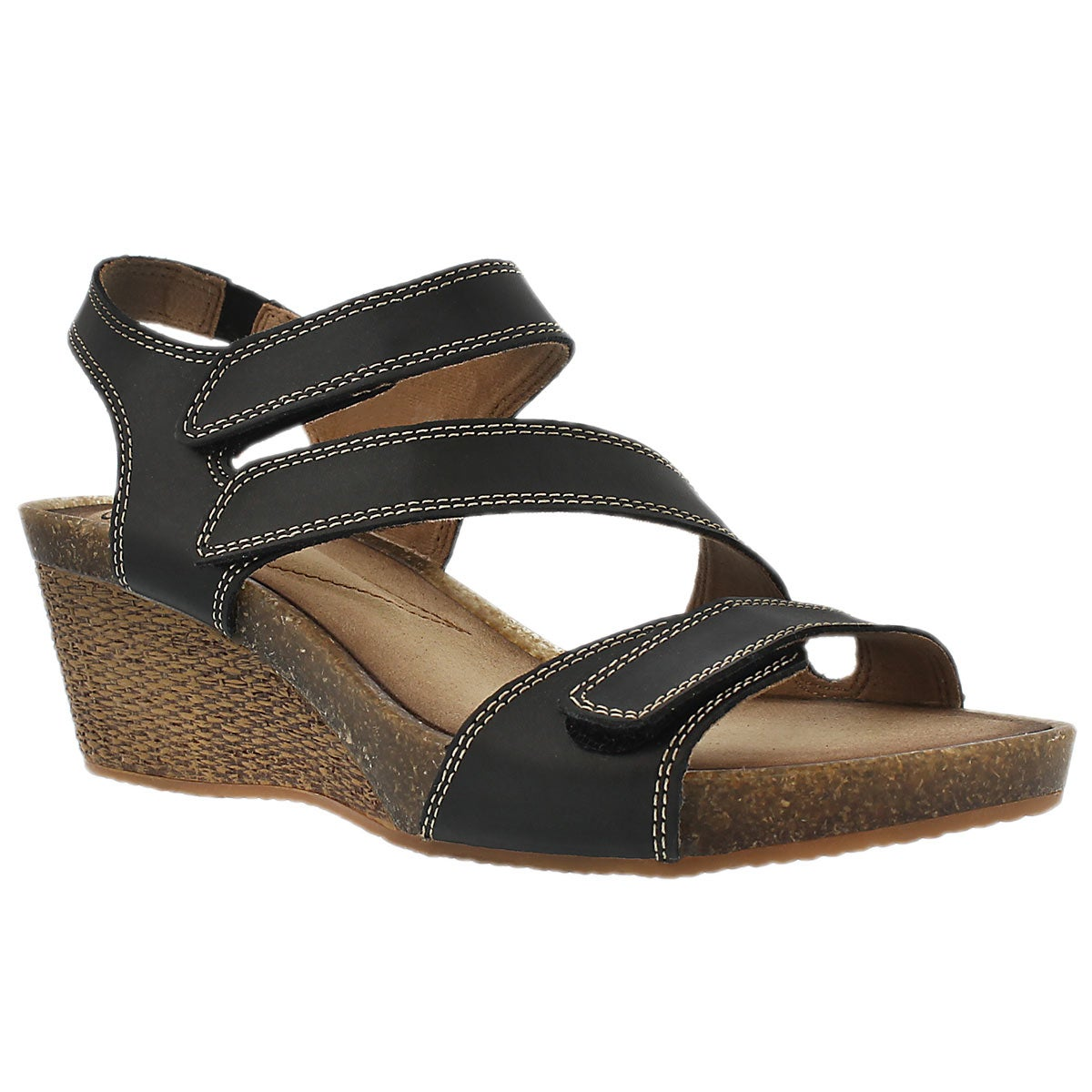 Women's HAVELY ORDO black wedge sandals