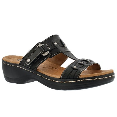 Clarks Women's HAYLA YOUNG black casual slide sandals