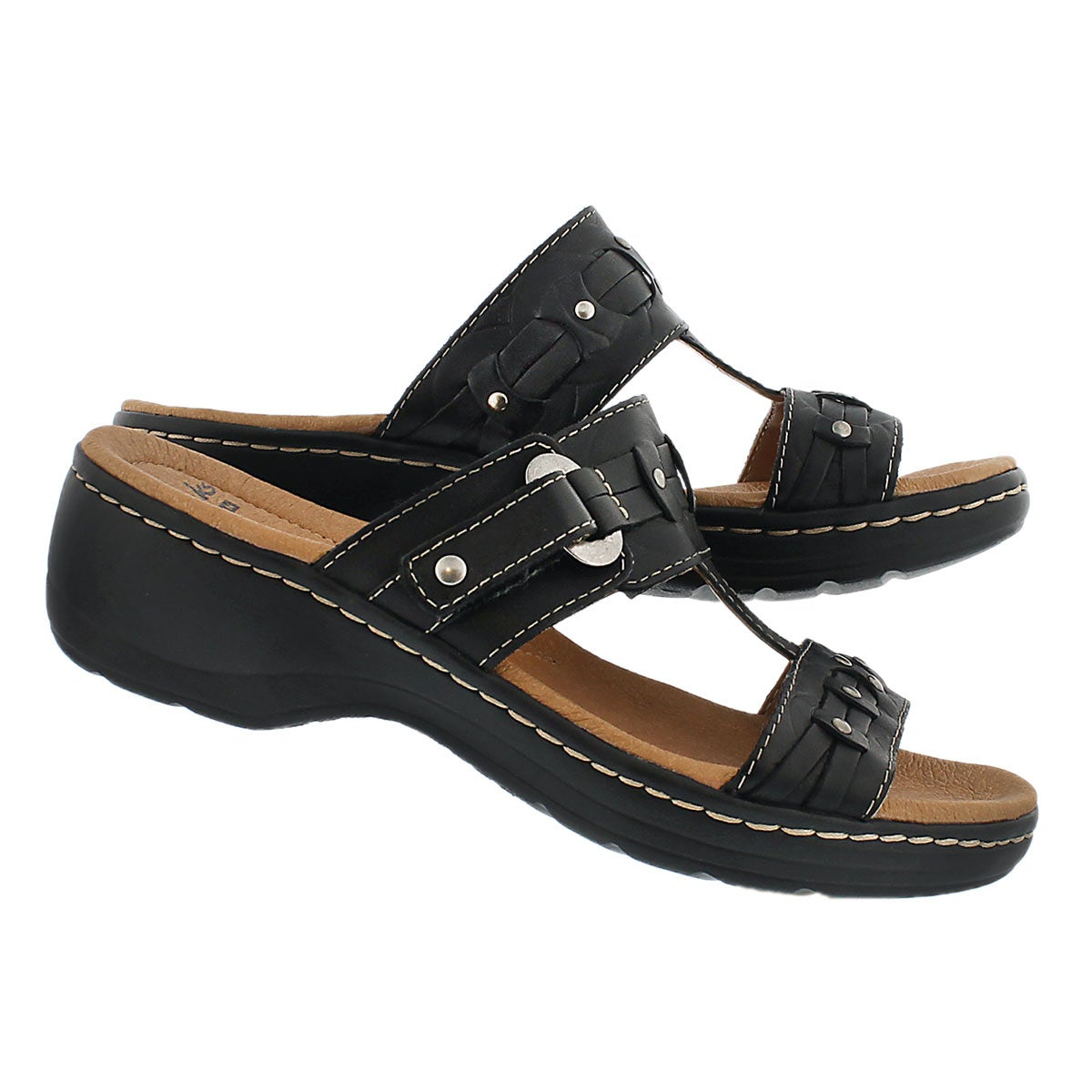 Lds Hayla Young blk casual slide sandal