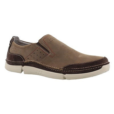 Clarks Men's TRIKEYON STEP brown casual slip ons