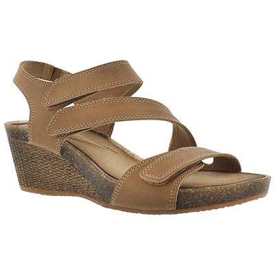 Clarks Women's HAVELY ORDO beige wedge sandals