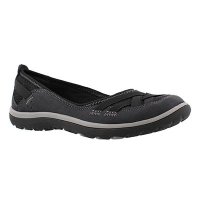 Clarks Women's ARIA PUMP black slip on casual shoes