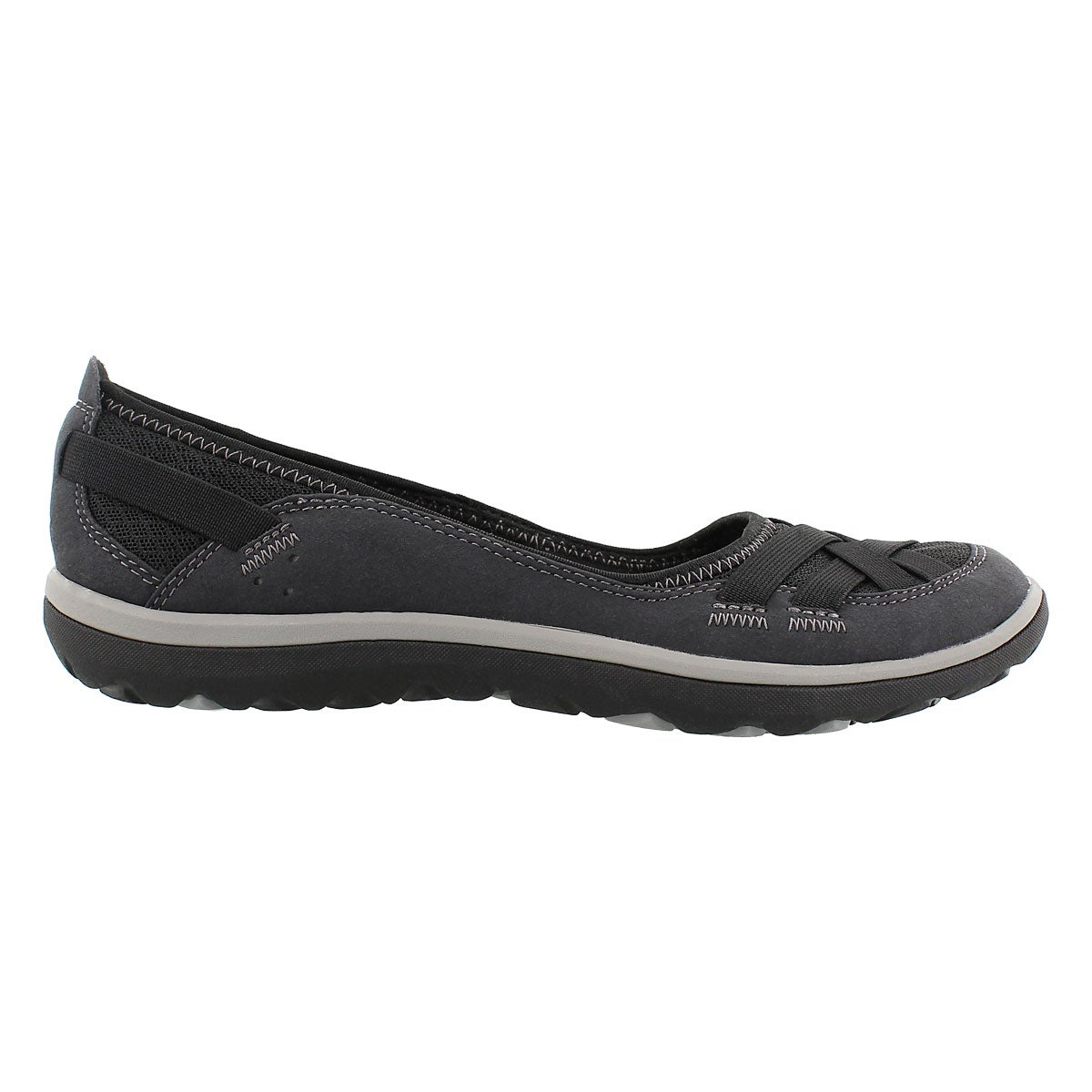 Lds Aria Pump black slip on casual shoe