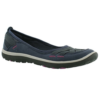 Clarks Women's ARIA PUMP navy slip on casual shoes
