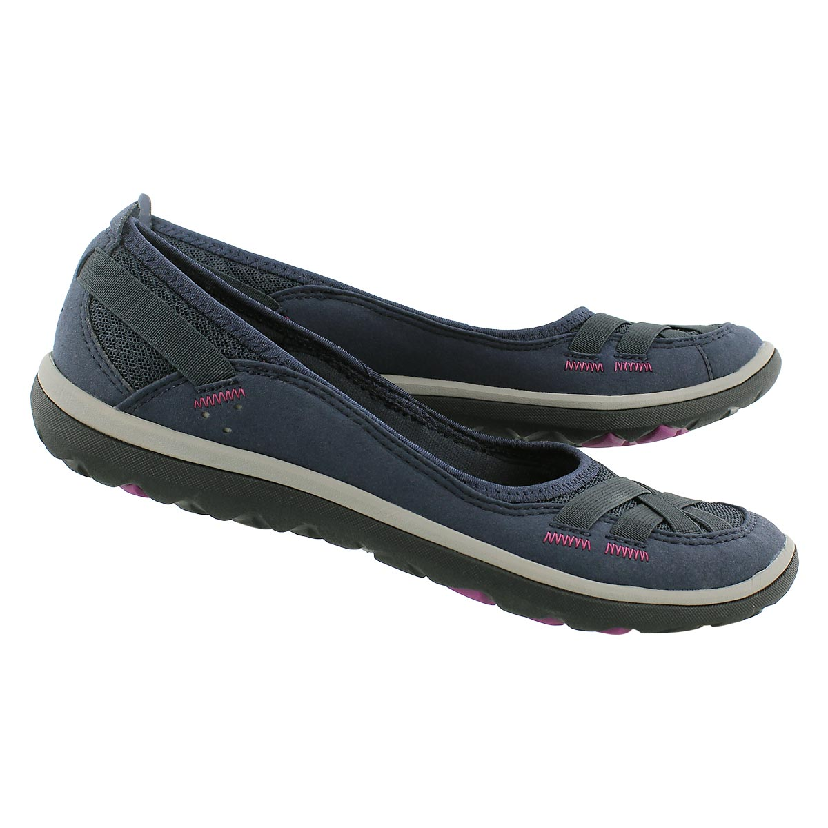 Lds Aria Pump navy slip on casual shoe