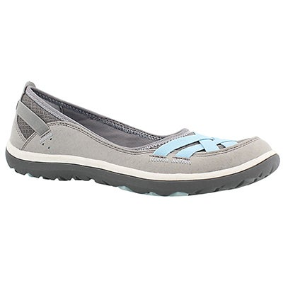Lds Aria Pump grey slip on casual shoe
