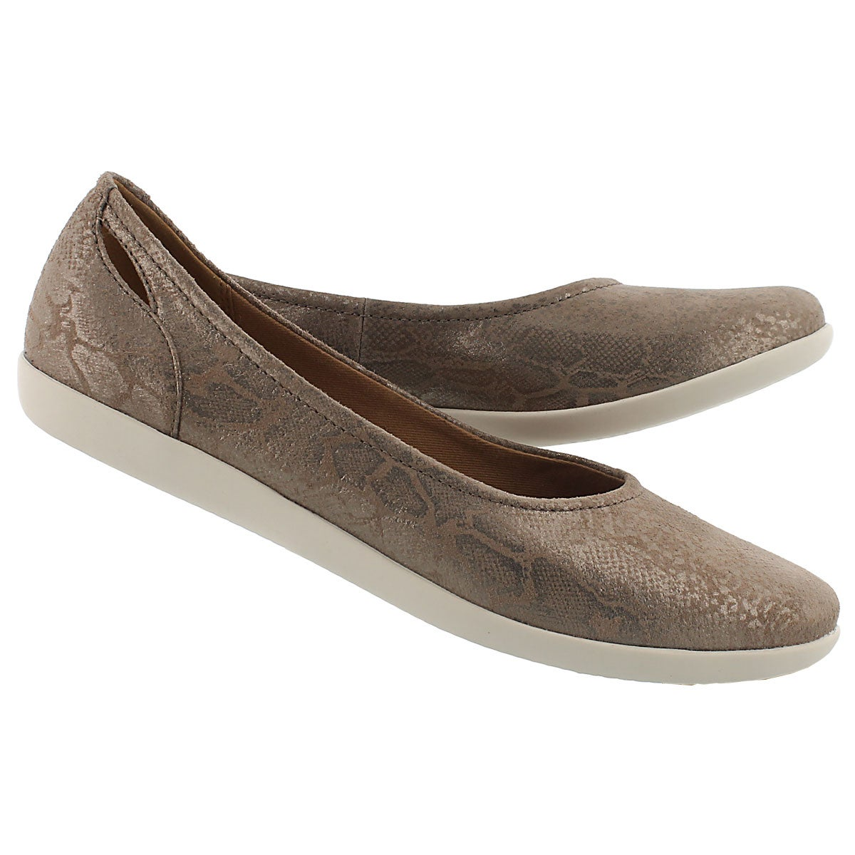 Lds Helina Alessia pebble suede flat