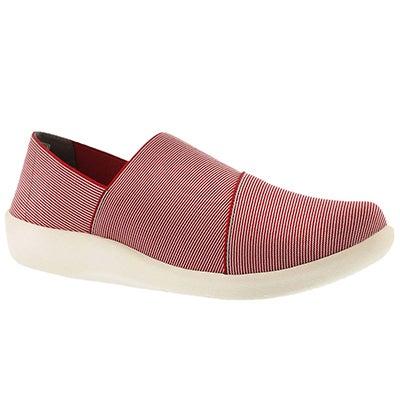 Clarks Women's SILLIAN FIRN red casual slip ons