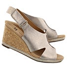 Lds Helio Float pewter wedge sandal