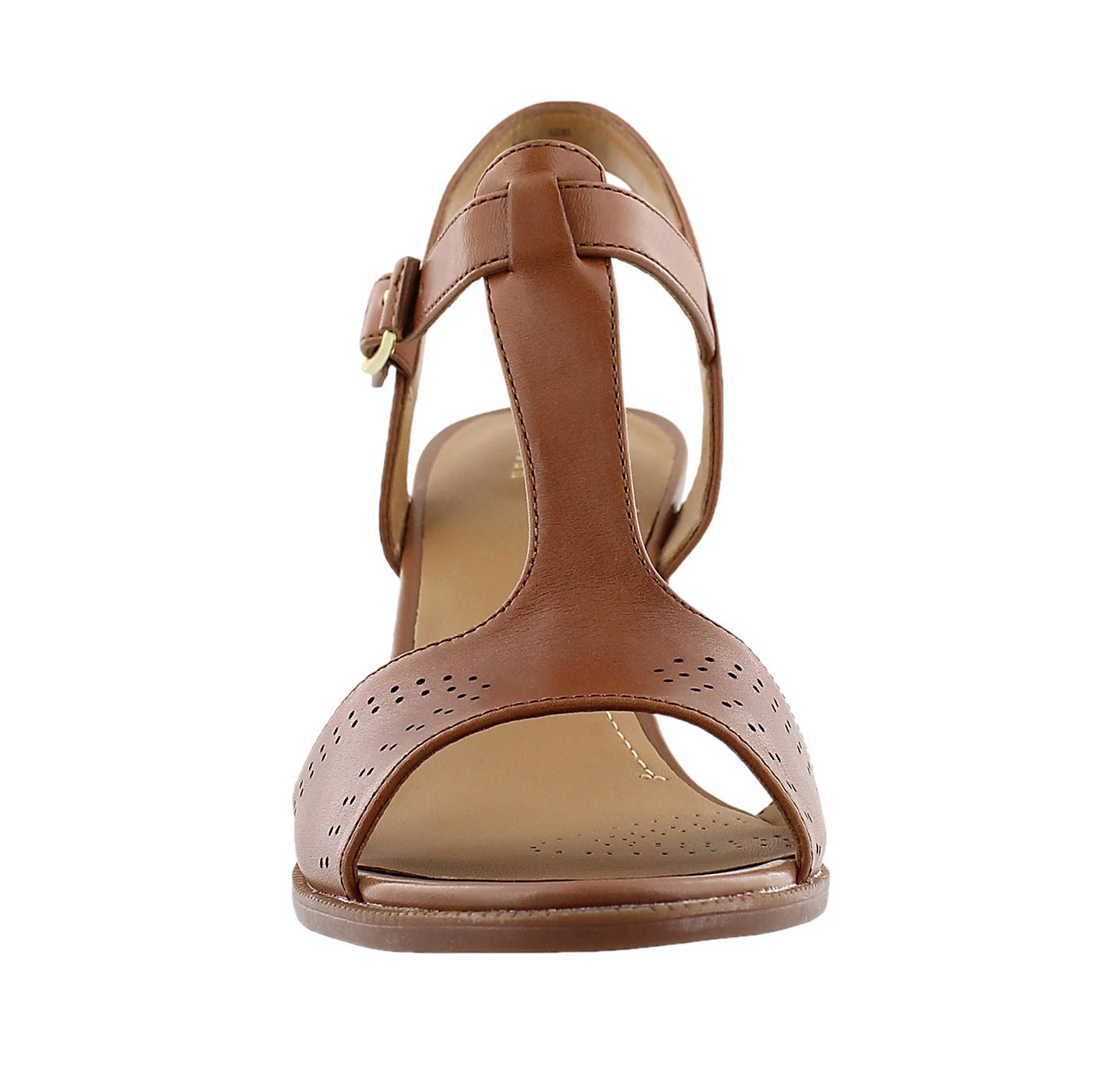 Lds Ciera Glass brn t-strap dress sandal