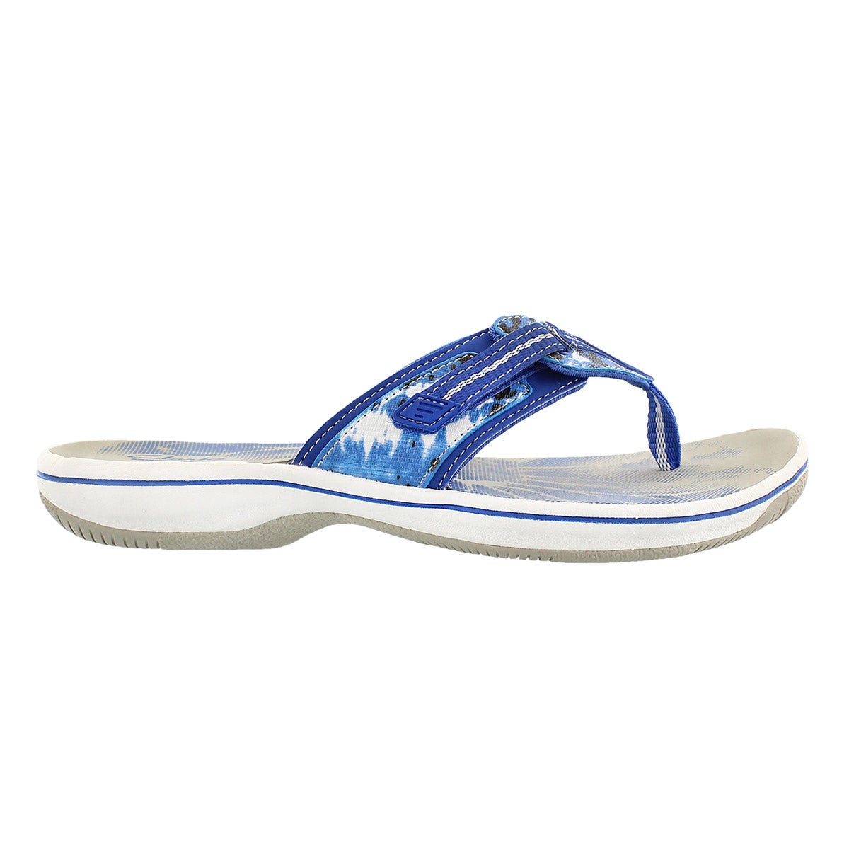 Lds Brinkley Jazz blue camo thong sandal
