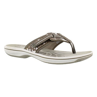 Clarks Women's BRINKLEY JAZZ sage camo thong sandals