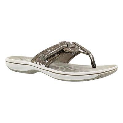 Lds Brinkley Jazz sage camo thong sandal