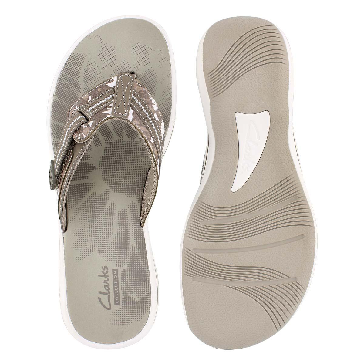 Sandale tong Brinkley Jazz, sauge, femme