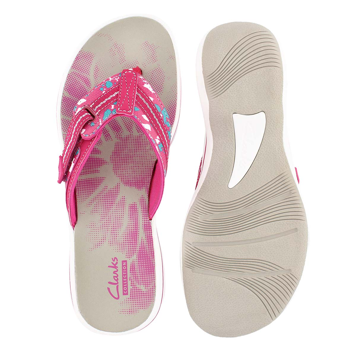 Lds Brinkley Jazz pink camo thong sandal