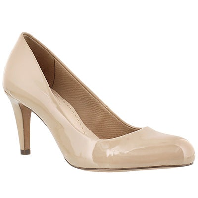 Clarks Women's CARLITA COVE sand patent dress pumps